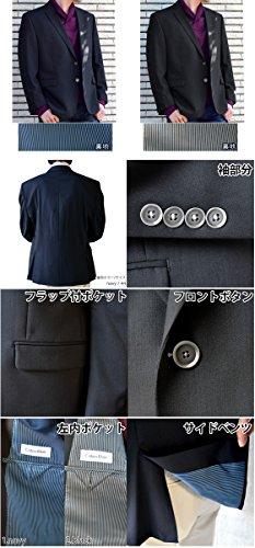 (カルバンクライン) CalvinKlein メンズ 2ボタン ブレザー ジャケット 紺 38S(USサイズ) 1.navy [並行輸入品]