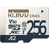 KLEVV microSDXC 256GB UHS-I U3 V30 A2 読込:100MB/s 書込:90MB/s (最大) Nintendo Switch 動作確認済 K256GUSD6U3-CA
