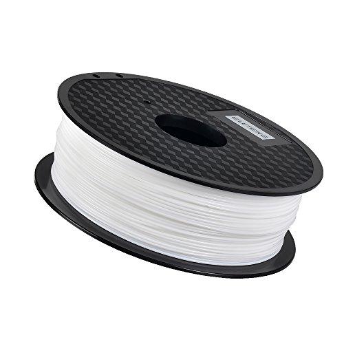 ELUTENG PLA フィラメント 1.75mm 3Dプリンター用 樹脂 天然素材 1KG 低い温度 195℃ - 230℃ for Makerbot / Reprap / UP Plus / 3DP-08BK M508等適用 3Dペンも対応 汎用 ホワイト 3D Printing Pen Filament 白い PLAフィラメント