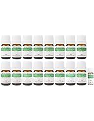 【2019年改訂版】ease AEAJアロマテラピー検定香りテスト対象精油セット 揃えておきたい基本の精油 1?2級 17本セット各5ml