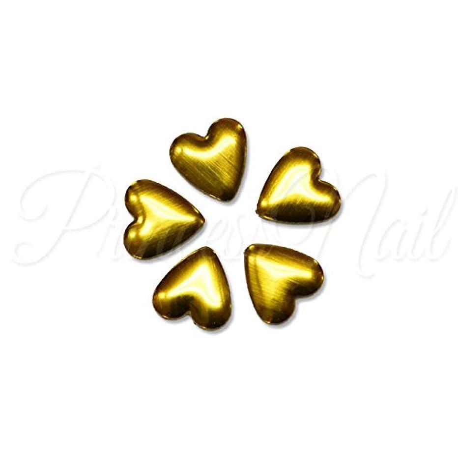 トレイル百万ルーフメタルパーツ ハートのメタルスタッズ 約4mm(ゴールド)10粒 MP0067