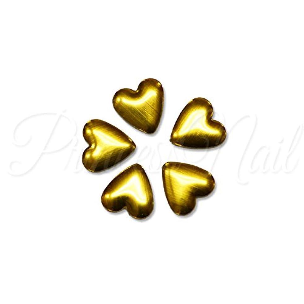 羨望とまり木樫の木メタルパーツ ハートのメタルスタッズ 約4mm(ゴールド)10粒 MP0067