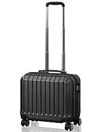 FIELDOOR TSAロック搭載 スーツケース [STRAIGHT NEO] ダブルキャスター 鏡面ヘアライン仕上げ トラベルキャリーケース リブ構造 ポリカーボ樹脂 軽量 耐衝撃 長期旅行