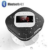 Best アウトドアのBluetoothスピーカー - AGPTEK シャワーラジオ バスルーム Bluetooth スピーカー 卓上ラジオ ハンズフリー通話 吸盤式 Review