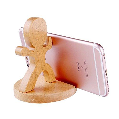 新発想スタンド 木製スマホスタンド スマートフォン スタンド スマホホルダー 可愛い ゾウ、馬、子供デザインIphone Samsung xperia Ipad対応 (子供デザイン)