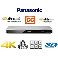 【PSE対応済】【日本語保証書付 国内サポート 完全1年保証 3年延長保証対応】 パナソニック Panasonic 4Kアップスケーリング / Region Free Version / Closed Captioning クローズドキャプション機能 / 3D対応 / Wi-Fi 機能搭載●Blu-ray A B C / DVD リージョン0-6 完全対応 / 多地域対応 マルチリージョン リージョンフリー (PAL/NTSC 自動対応) ブルーレイ & DVDプレーヤー 【日本語保証書 / ハイスピードHDMIケーブル / 変換コンセント付属】 [並行輸入品]