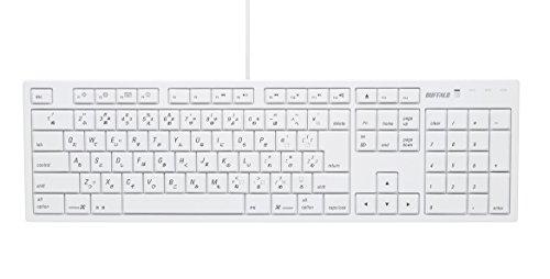 BUFFALO(バッファロー)『USBキーボードMac対応モデル(BSKBM01WH)』