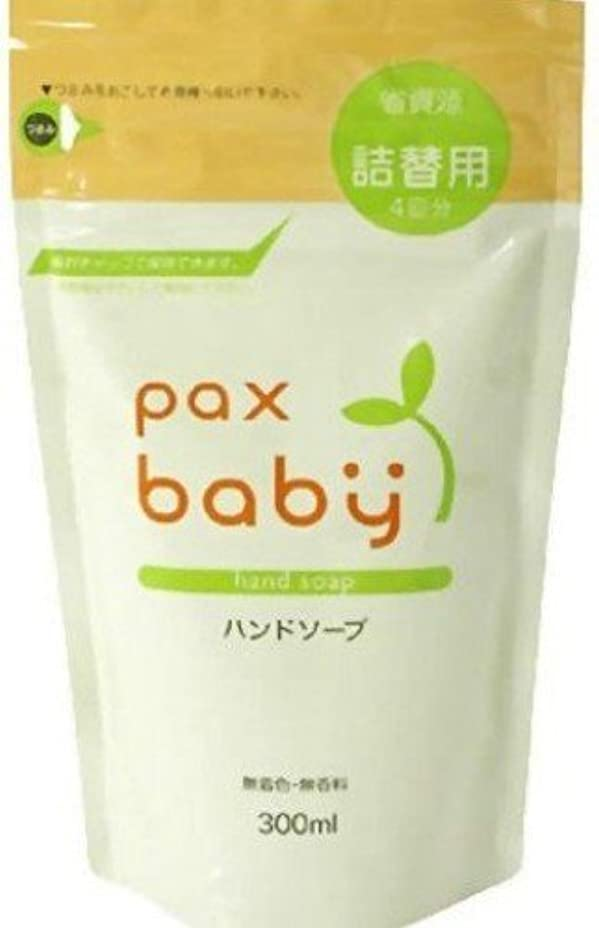 落ち着いて深い回転太陽油脂 パックスベビー ハンドソープ 詰替用 300ml (赤ちゃん用 手洗い 石けん)×12点セット (4904735054849)