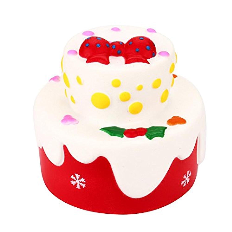molyveva KawaiiジャンボキュートケーキカートンSquishy Slow Rising Sweet香りつきVentチャームKid Toy手おもちゃ、Stress Reliefおもちゃ、装飾小道具人形ギフトFun Large レッド OTS_80227008