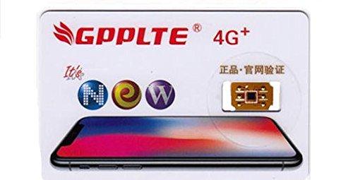 音声通話/4G-LTE通信対応GPPLTE docomo、au、SoftBankのiPhone X/8/8Plus/7/7Plus/6s/6sPlus/6/6Plus/5s/5c/5/se SIMロック解除アダプタ/SIM Unlock