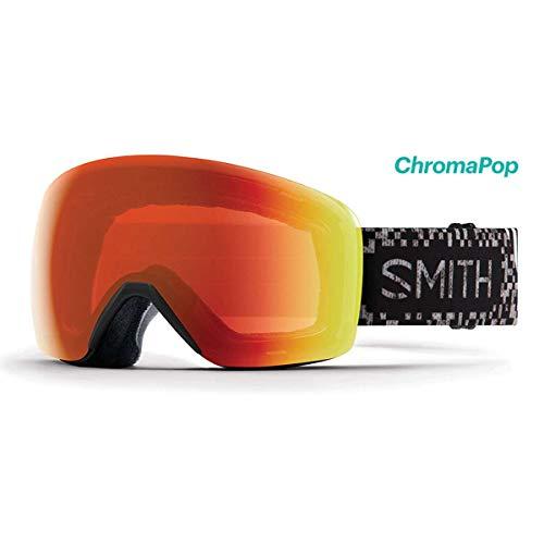 Smith Optics 2019 メンズ スカイライン スキー アジアンフィット ゴーグル - ゲームオーバーフレーム/クロマポップ エブリデイレッドミラーレンズ - SKY6CPEGMO19-GA