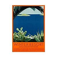 Travel Yugoslavia Winter Resort Adriatic Sea Vintage Wall Art Print 旅行冬リゾートビンテージ壁