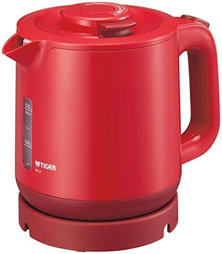 タイガー 魔法瓶 蒸気レス電気ケトル わく子 800ml レッド PCJ-A081-R Tiger PCJ-A081-R