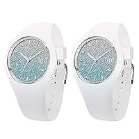 [アイスウォッチ]ICE-WATCH ペアBOX付 ペアウォッチ シェア ユニセックス ICE lo 43mm ブルー ホワイト シリコン 2本セット 013429013429 腕時計 [並行輸入品]