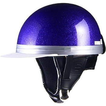 リード工業(LEAD) バイクヘルメット ハーフ HARVE コルクメタルパープル フリーサイズ 57~60cm未満 HS-501