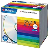 (まとめ) 三菱ケミカルメディア DVD‐R 4.7GB DHR47J20V1 20枚【×5セット】