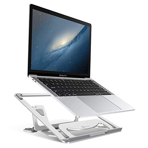 Humixx PC スタンド ノートパソコン スタンド 折りたたみ式 15.6インチまで対応 高さ・角度調整可能 軽量 アルミ 携帯便利 Macbook/Macbook Pro/Dell/Sony/SAMSUNG/iPad (シルバー)