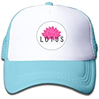 WH & Sy Lotusケータリング子メッシュTruckerキャップ調節可能ファッションKidsメッシュスナップバック帽子ストラップバック帽子ピンク