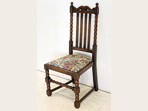 【送料無料】dn-5 1920年代イギリス製アンティーク オーク ボビンレッグ ダイニングチェア (椅子)【英国】【西洋】【骨董】【ヴィンテージ】【家具】【アンティーク家具】