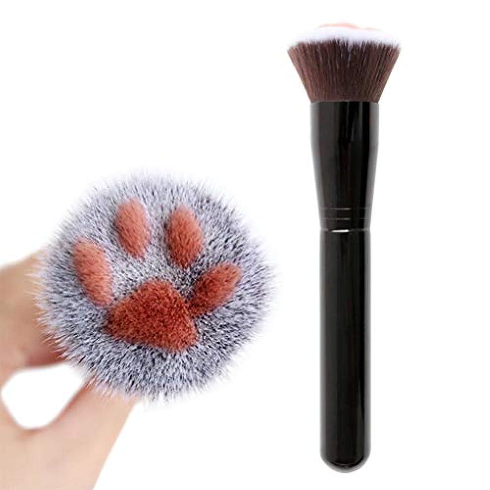 ライフ小屋 メイクブラシ 化粧ブラシ 猫爪 かわいい 猫の足 化粧筆 コスメ フェイスブラシ チークブラシ メークアップブラシ ファンデーションブラシ 携帯用 女性 贈り物