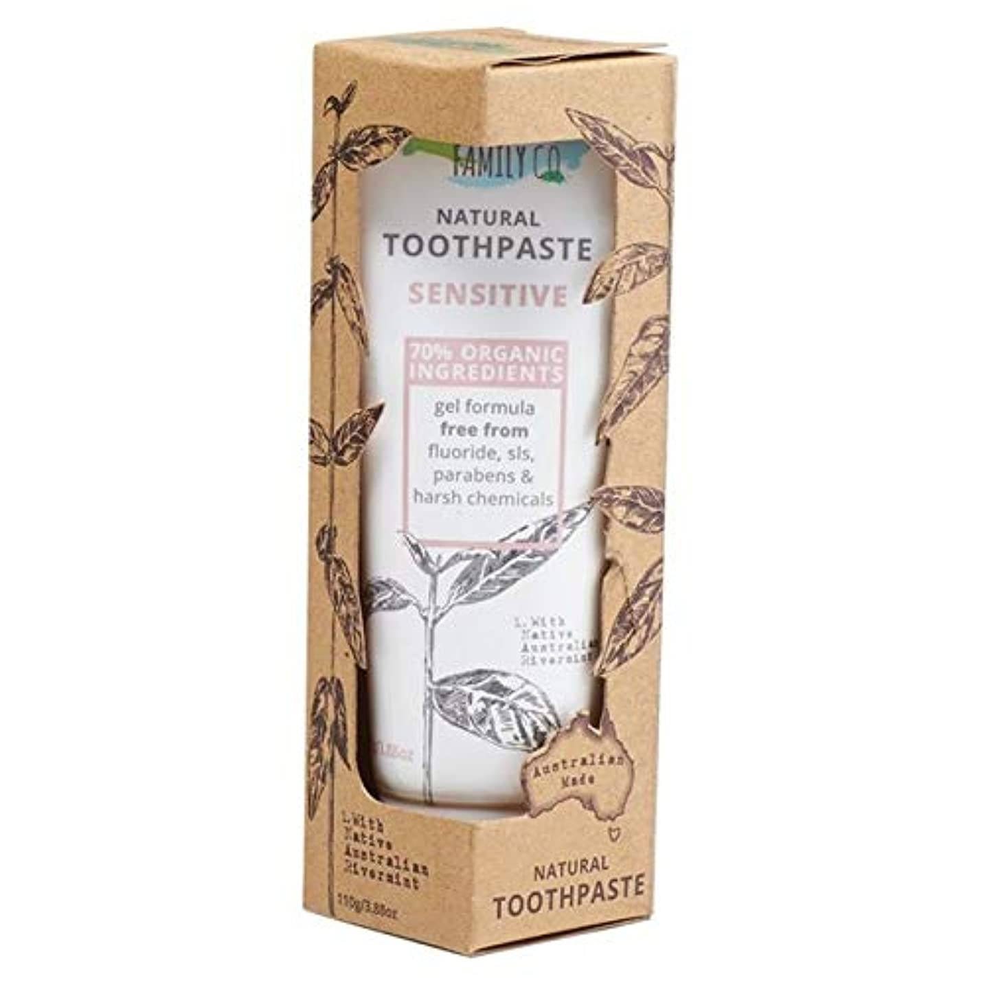 運賃許さない受賞[Natural Family ] 自然な家族に敏感な歯磨き粉の110グラム - Natural Family Sensitive Toothpaste 110g [並行輸入品]