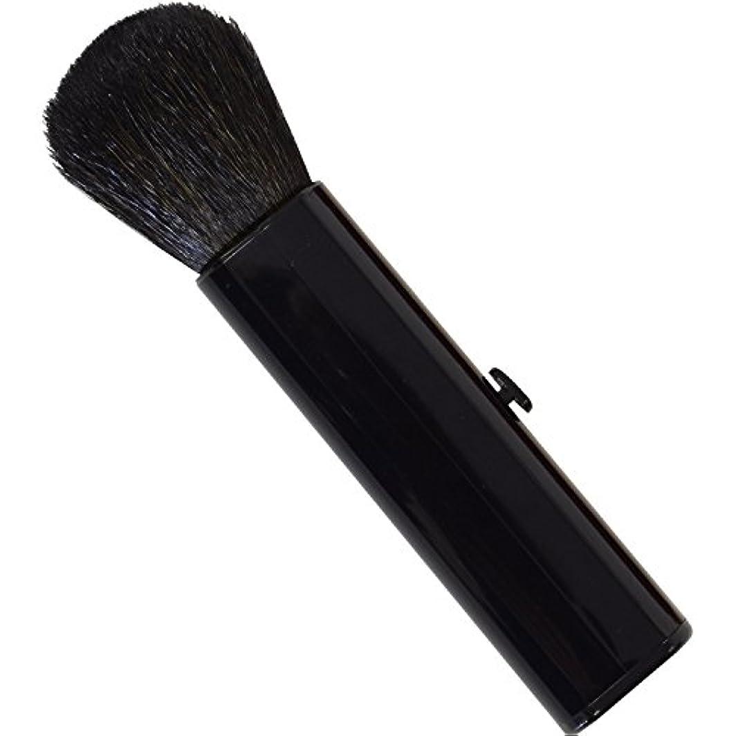 呼びかけるメディア転送SC-704BK 六角館さくら堂 スライドチークブラシ 黒 山羊毛100% シンプルなデザイン 便利なケース付き