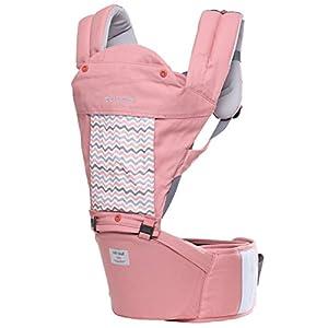 sorbebe(ソルベベ) 赤ちゃんがゆったり座れるヒップシート付き抱っこひも STELLA Aurora Pink (ピンク) 【対象年齢:3ヶ月から36ヶ月まで】