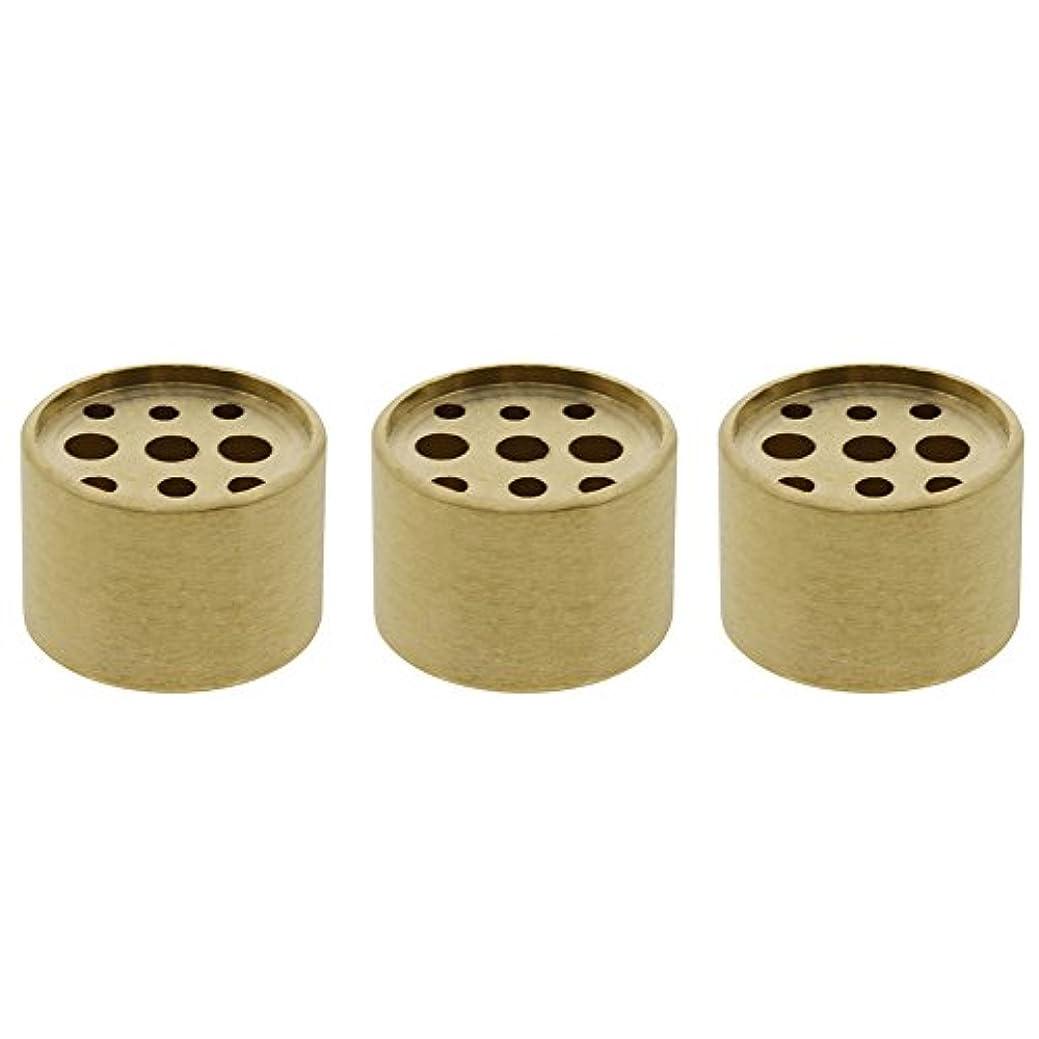 哲学的雪流用するSaim 3個Fine銅円柱形状Incenseホルダー9穴真鍮LotusスティックBurner for Incense