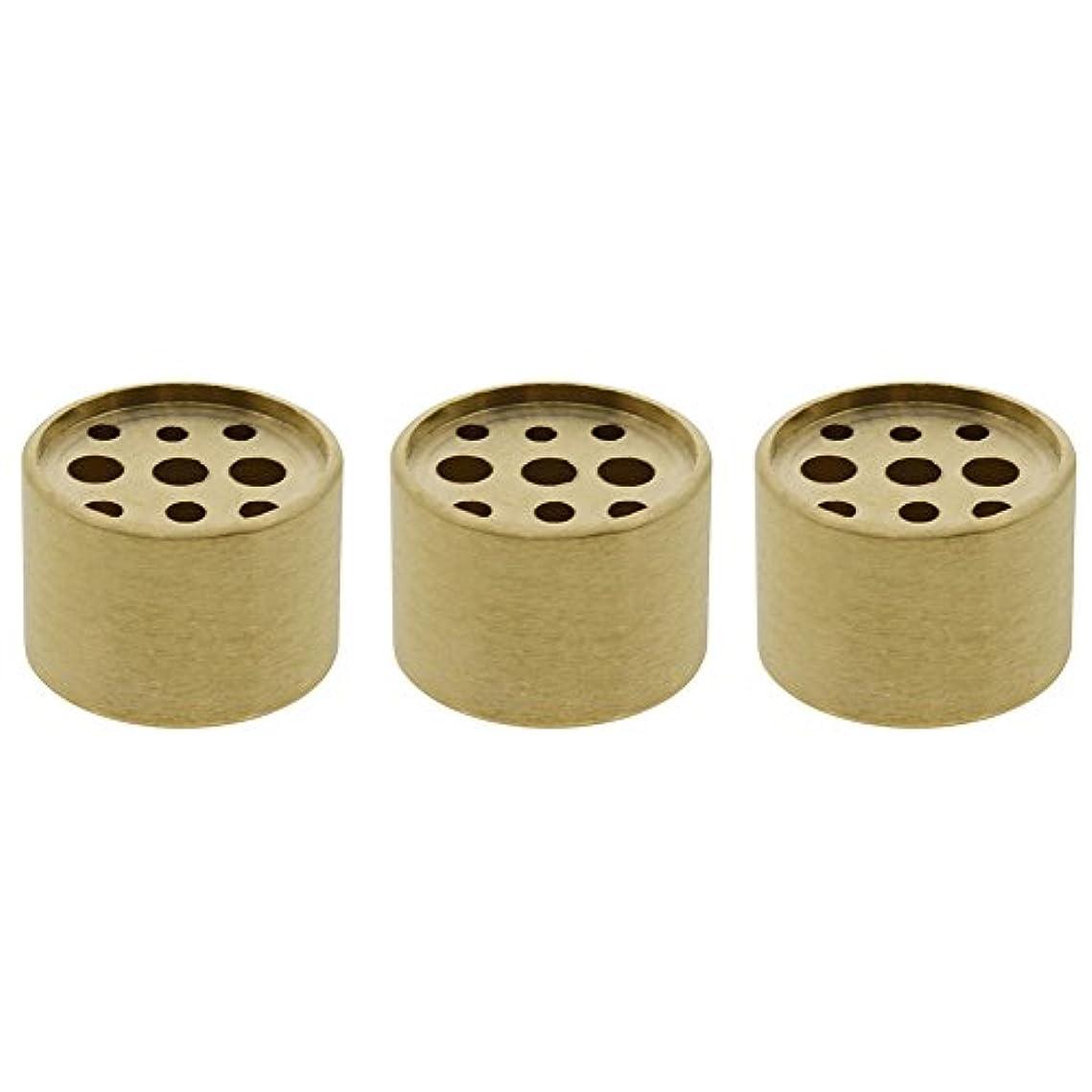 ポイント今後適応的Saim 3個Fine銅円柱形状Incenseホルダー9穴真鍮LotusスティックBurner for Incense