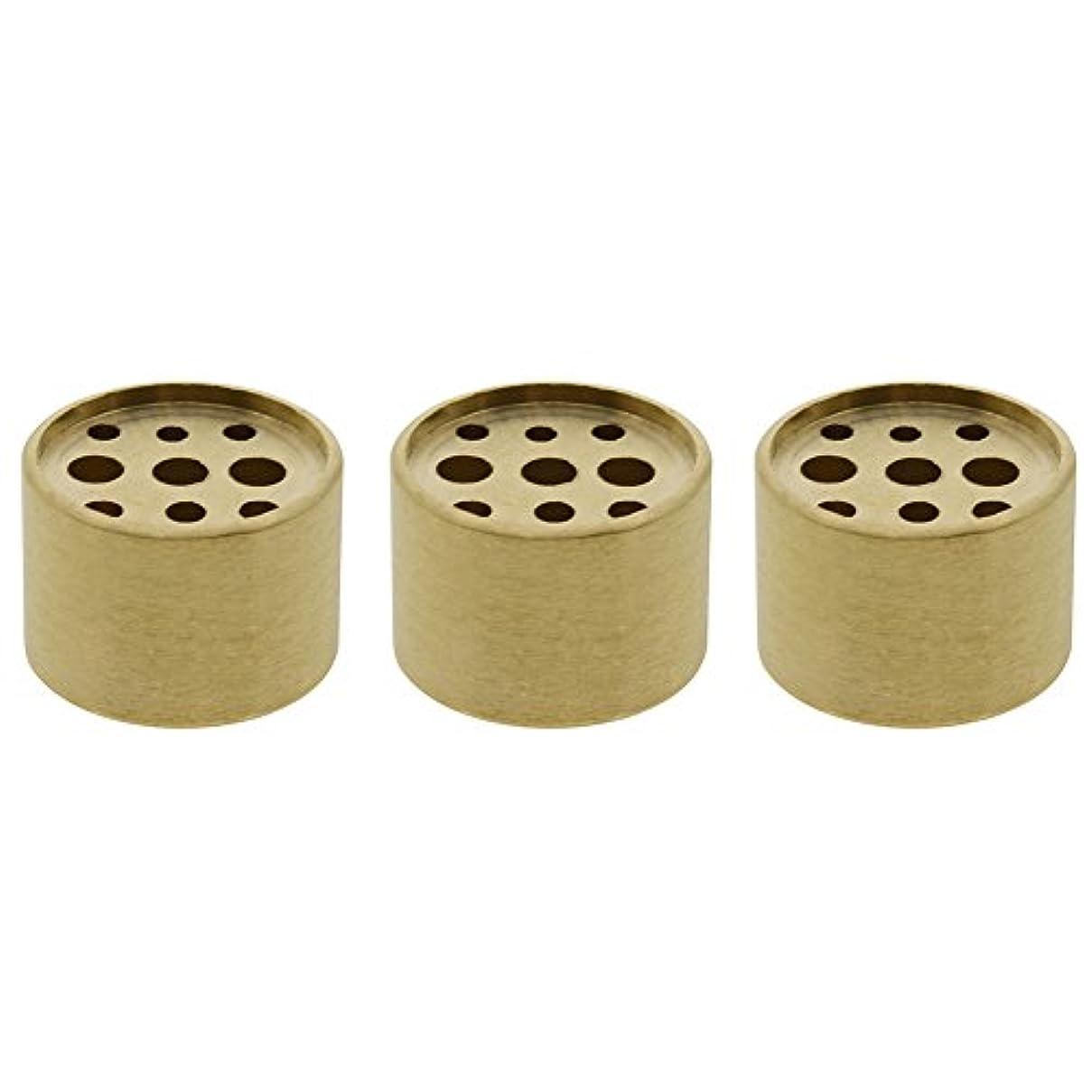 めまいがフェデレーションラベンダーSaim 3個Fine銅円柱形状Incenseホルダー9穴真鍮LotusスティックBurner for Incense