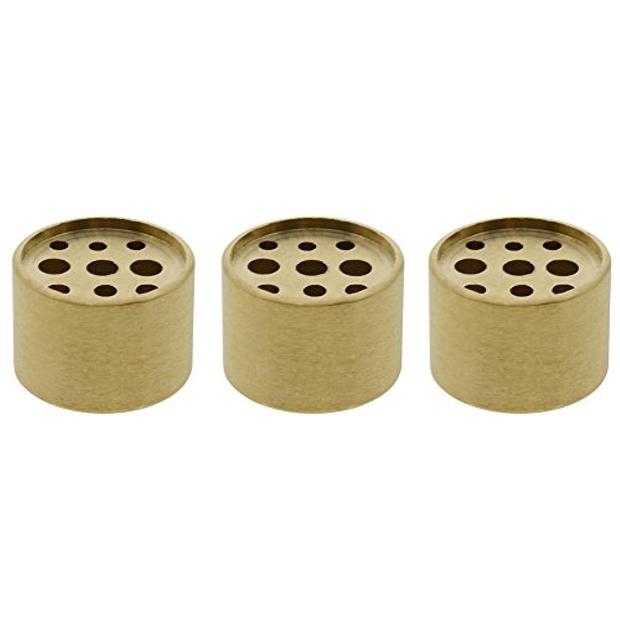 荷物ホステル実行可能Saim 3個Fine銅円柱形状Incenseホルダー9穴真鍮LotusスティックBurner for Incense