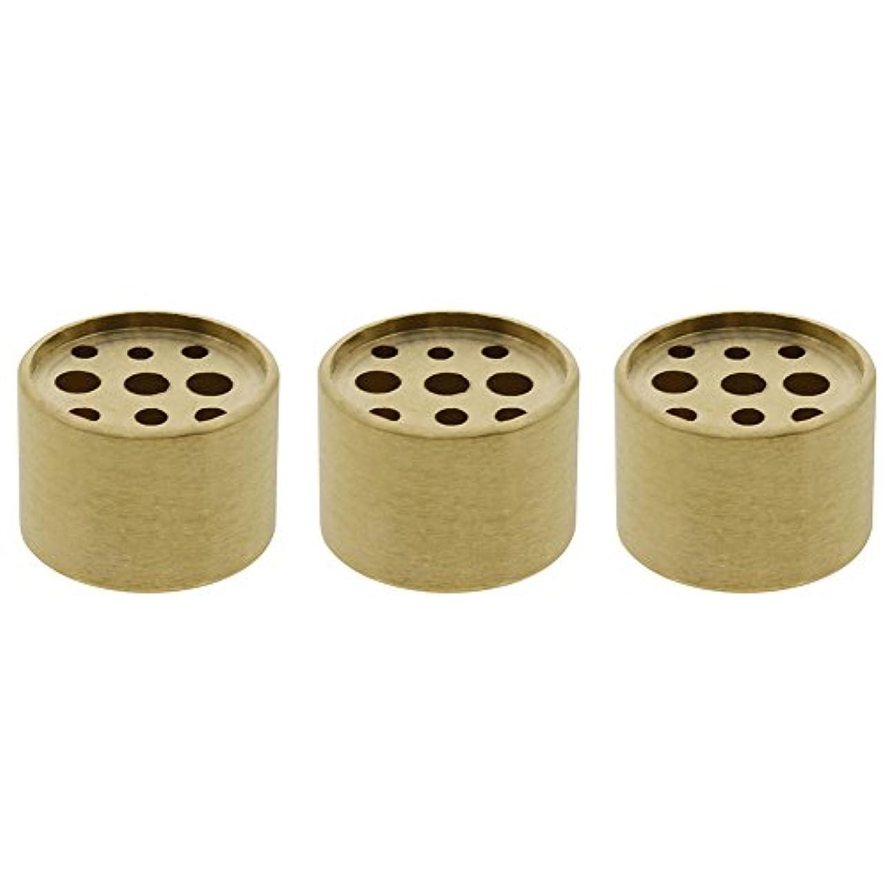 トーク狂気抑圧者Saim 3個Fine銅円柱形状Incenseホルダー9穴真鍮LotusスティックBurner for Incense