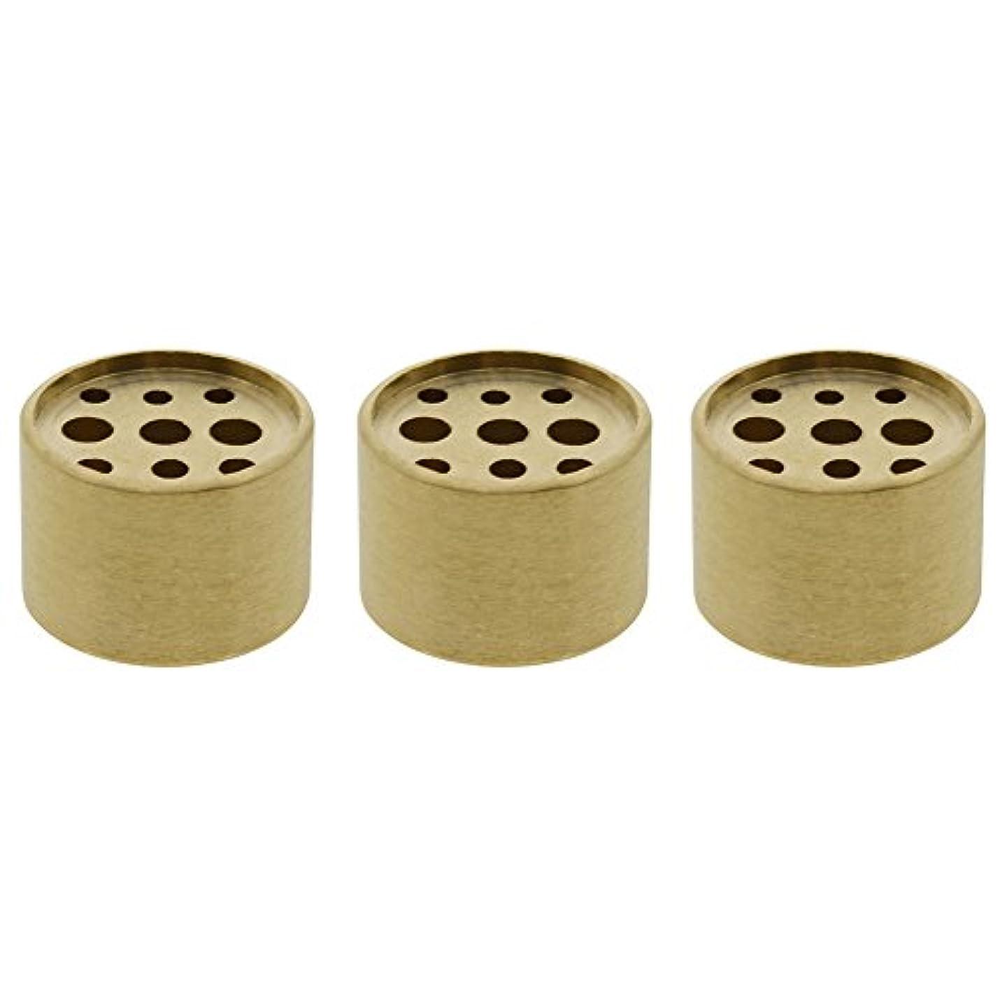 争う自発的ライラックSaim 3個Fine銅円柱形状Incenseホルダー9穴真鍮LotusスティックBurner for Incense