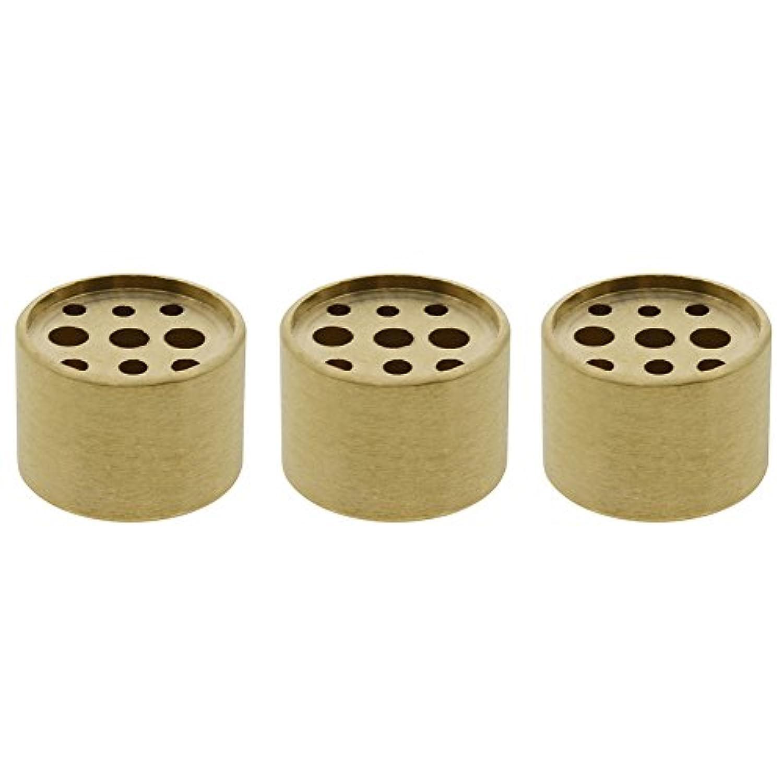 素人フィードオン凍結Saim 3個Fine銅円柱形状Incenseホルダー9穴真鍮LotusスティックBurner for Incense