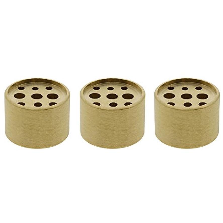 本気かすかな擁するSaim 3個Fine銅円柱形状Incenseホルダー9穴真鍮LotusスティックBurner for Incense