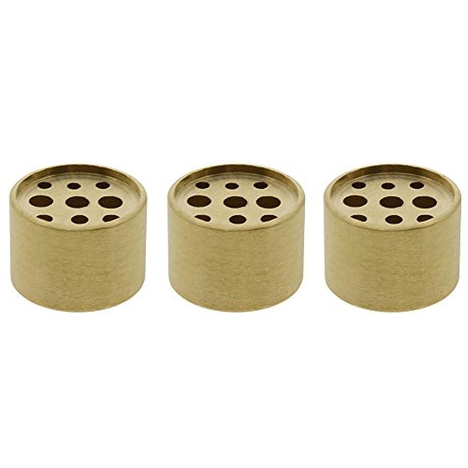 インタフェース暗くする合図Saim 3個Fine銅円柱形状Incenseホルダー9穴真鍮LotusスティックBurner for Incense