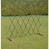 簡易フェンス(伸縮式間仕切り/柵/ゲート) スチール 日本製 〔園芸 ガーデニング用品〕 SIS KTEC-cSIS1-ds-1413451