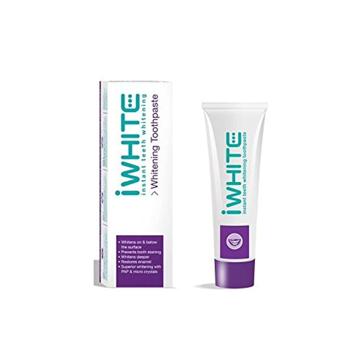 一般化する塩辛いターゲットiWhite Instant Teeth Whitening Toothpaste (75ml) (Pack of 6) - 歯磨き粉を白くインスタント歯(75ミリリットル) x6 [並行輸入品]