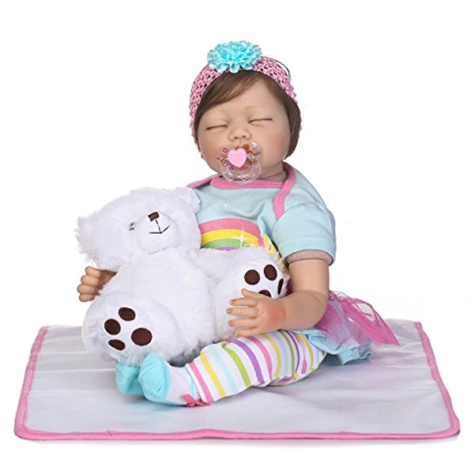 SanyDoll Rebornベビー人形ソフトSilicone 22インチ55 cm磁気Lovely Lifelike Cute Lovely Baby b0763llqmw