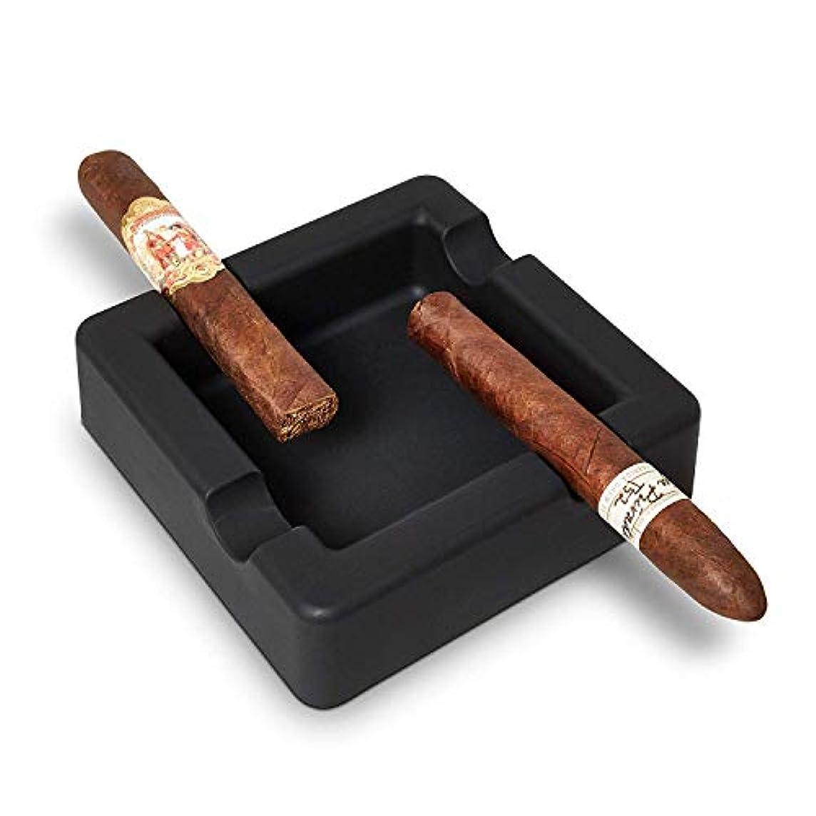 慎重神秘連帯シガー灰皿 - 屋外アンブレイカブルシガー灰皿 - 大ゲージの葉巻をサポート - ワイド棚 - ディープボウル - 葉巻喫煙者のためのシガー喫煙によるデザイン - パティオプールボートのための事務所柔軟なシリコーン