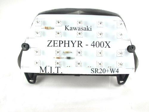 LEDテールユニット Flux LED(角型)使用 カワサキ ゼファー400kai  ZEPHYR400χ 96-08 ZR400C 省電力