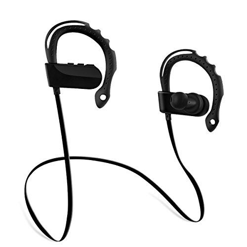 Miuko ブルートゥース イヤホン ランニング用 スポーツ イヤホン 無線 耳かけ式 両耳 高音質 Bluetooth イヤホン IPX4防水 マイク付き ハンズフリー通話