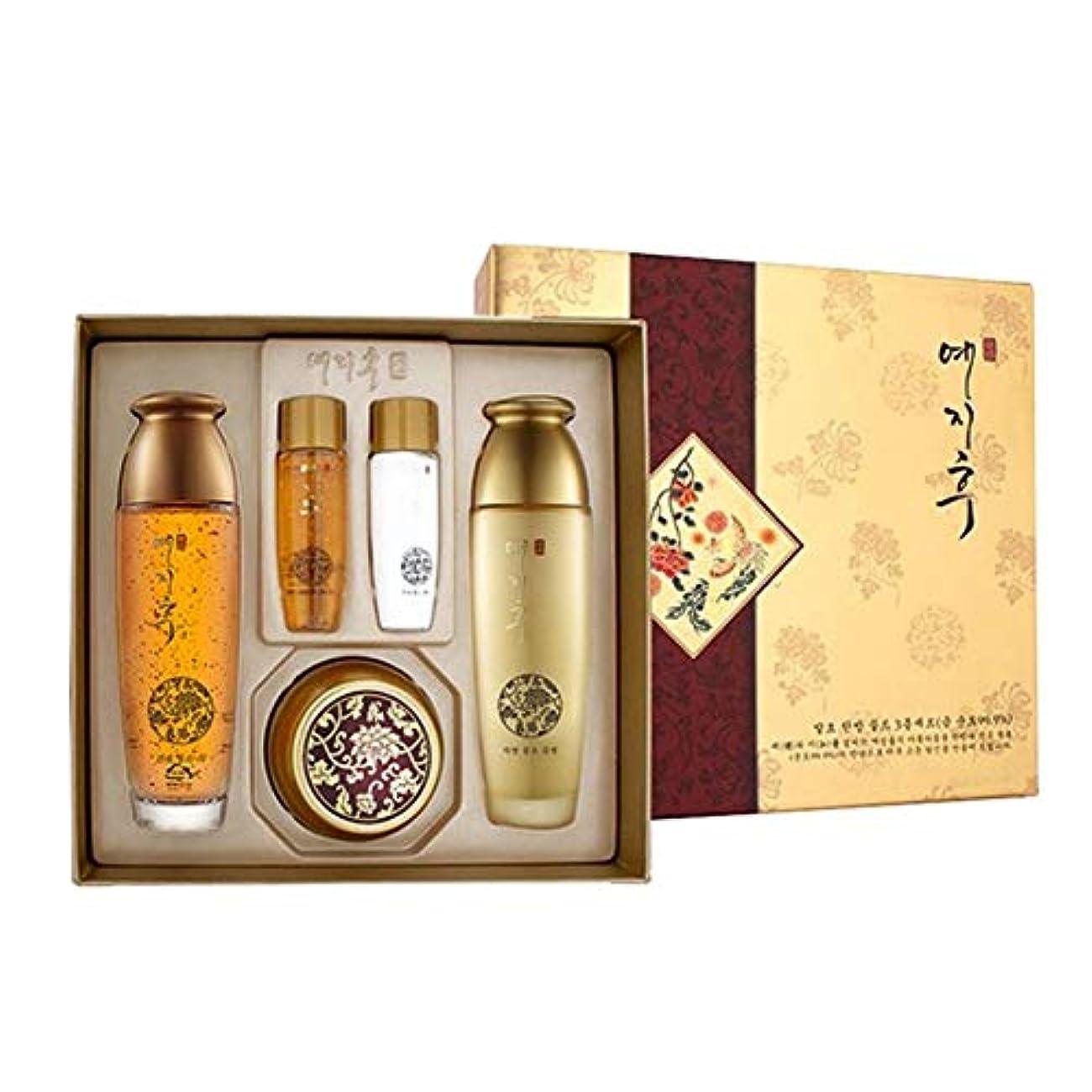 例求める比喩イェジフ漢方ゴールド3種セットゴールド水180ml(150+30) ゴールド乳液180ml(150+30) ゴールド栄養クリーム50ml、Yezihu 3 Sets of Herbal Gold Cosmetics [並行輸入品]