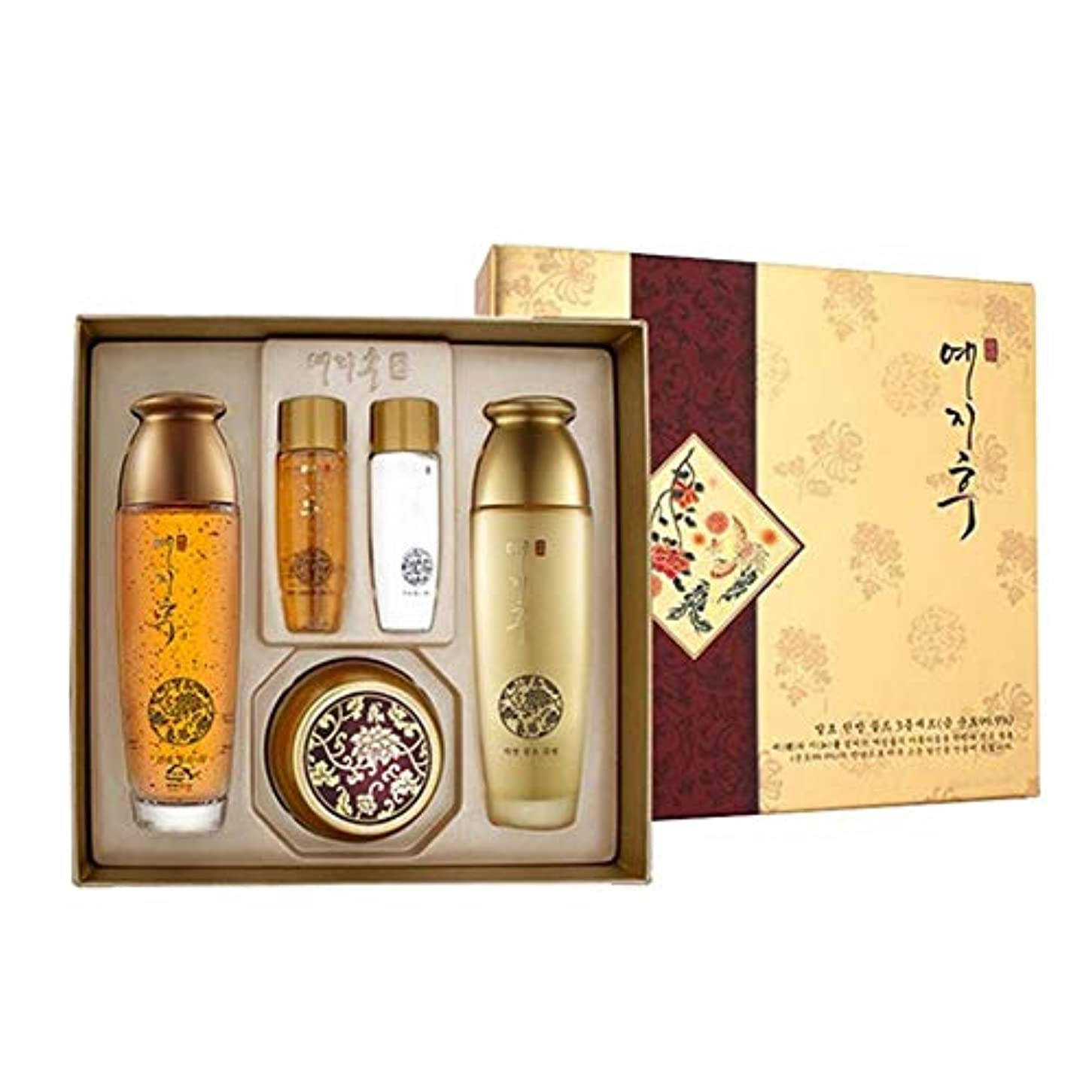 交流するファックス一方、イェジフ漢方ゴールド3種セットゴールド水180ml(150+30) ゴールド乳液180ml(150+30) ゴールド栄養クリーム50ml、Yezihu 3 Sets of Herbal Gold Cosmetics [並行輸入品]