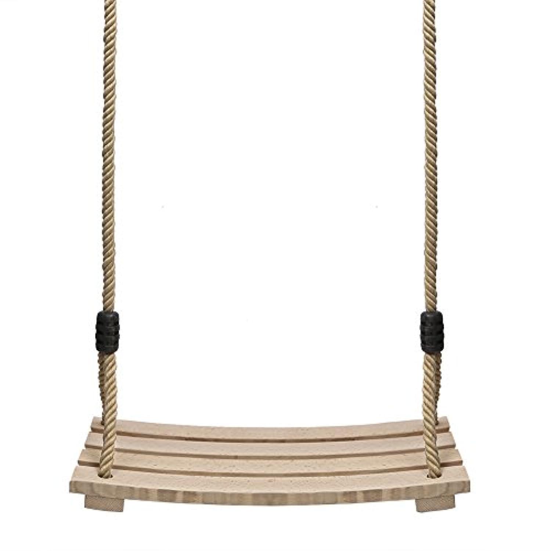 Pellor New Indoor Outdoor Chair Child Adult Wood Tree Swing Seat Chair Kid Gift 17.7 x 7.23cm x 1.5cm