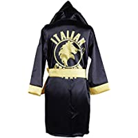 HUALIL Kids Rocky Balboa Black Boxing Costume Robe Shorts Boy Halloween Cosplay Suit