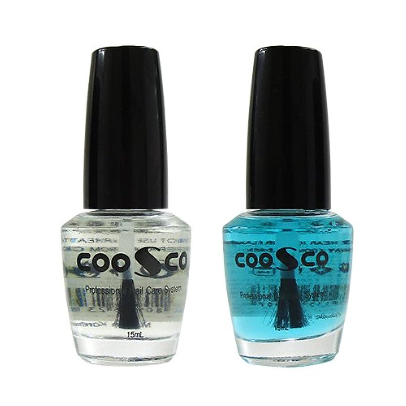 鉱石粘土つばチェスネイル用 CCトップコート×3個セット ※カラーは当店おまかせ! (COOSCO Professional Nail Care System CC Top Coat) 15mL