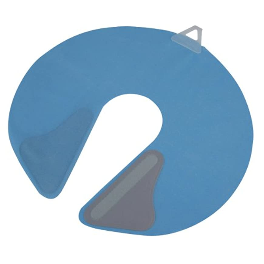 マークされた皿類推竹家 ネックシャッター ブルー