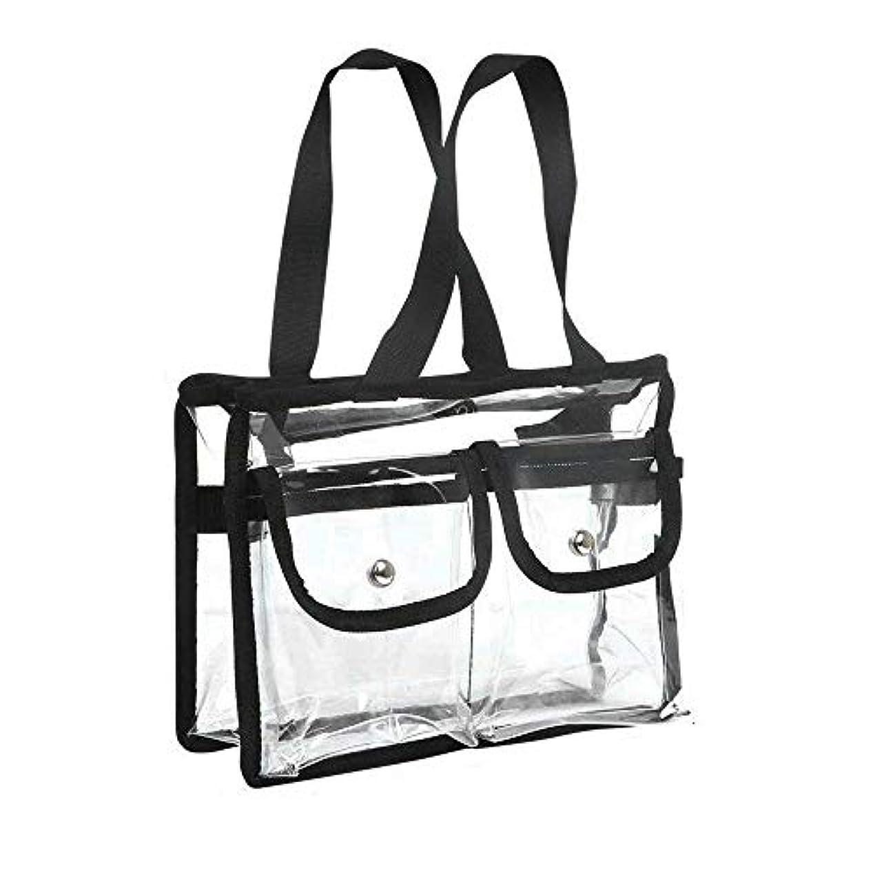 雪導体母音メイクケース ポータブル 透明化粧品バッグ 多機能 旅行用メイクポーチ ジッパー 防水 トートバッグ 取り外し可能 調整可能なショルダーストラップ 女性と男性 シャワー 収納 ウォッシュバッグ