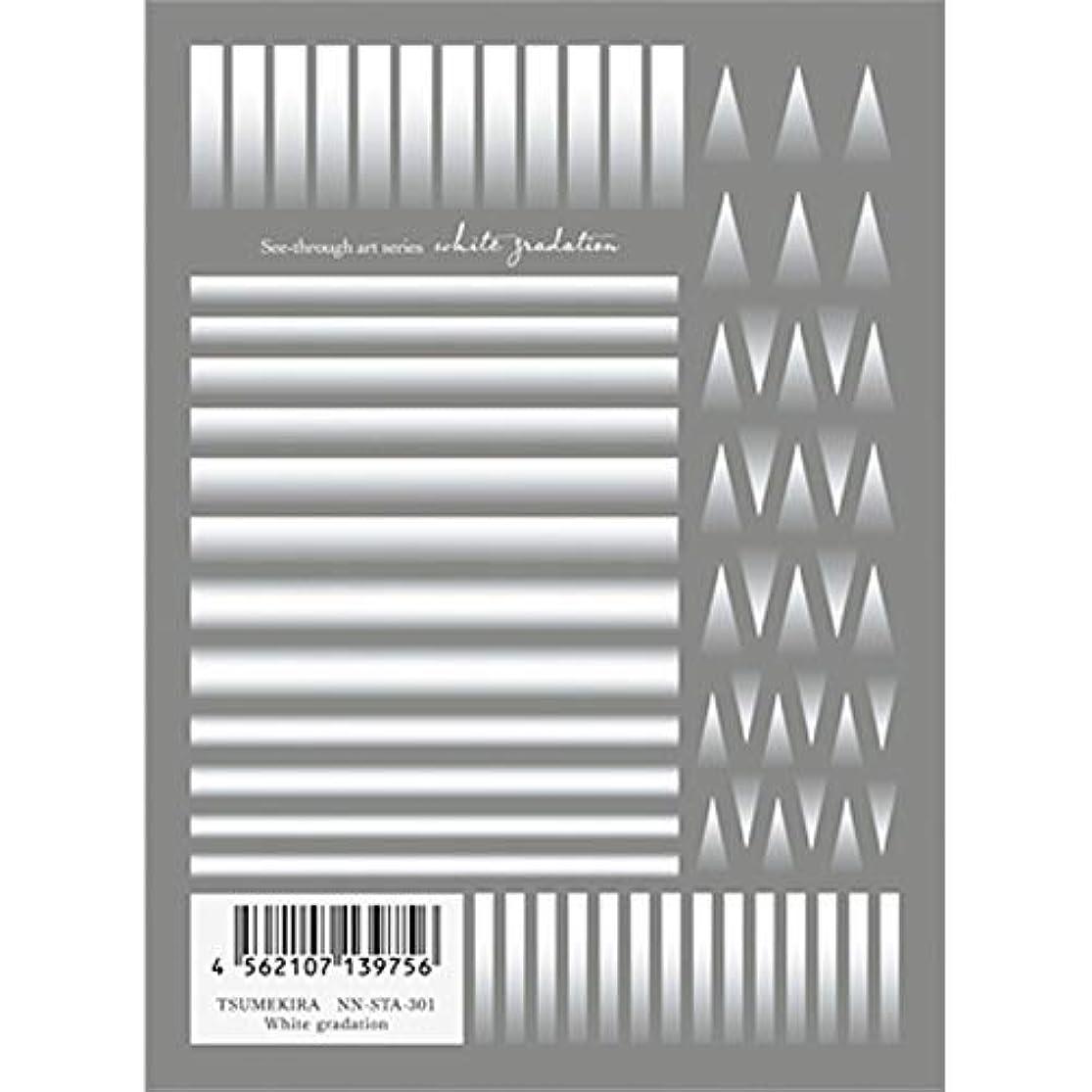 チャップアイドルペストリーツメキラ(TSUMEKIRA) ネイル用シール White gradation NN-STA-301